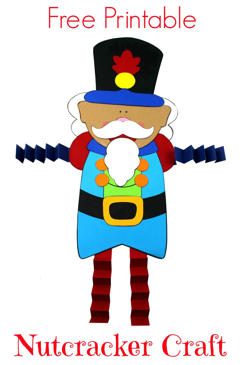 pin a nutcracker craft with accordion legs