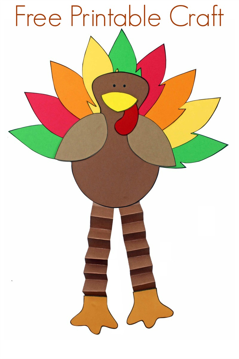pin a thanksgiving turkey papercraft