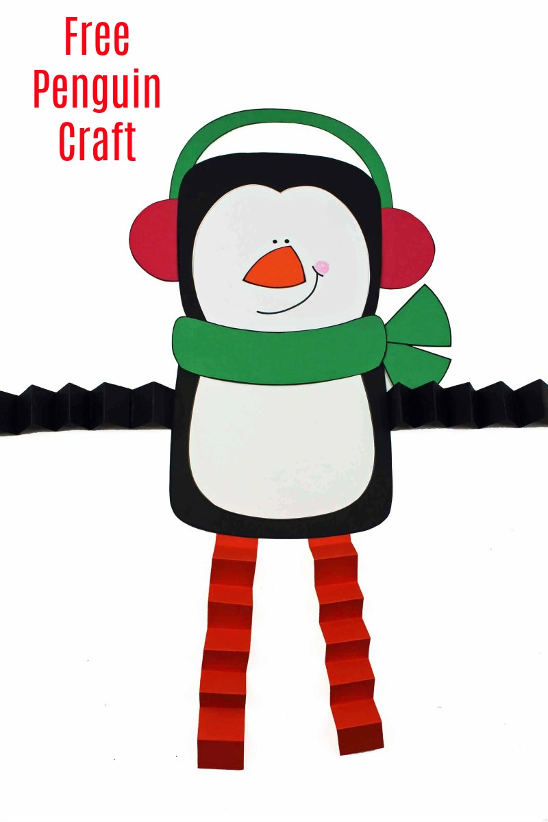 accordion leg printable penguin craft