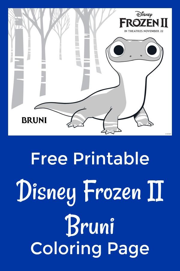 Free Printable Disney Frozen Bruni Coloring Page #FreePrintable #Disney #Frozen #FrozenII #Frozen2 #Bruni #ColoringPage #DisneyPrintable #DisneyColoringPage