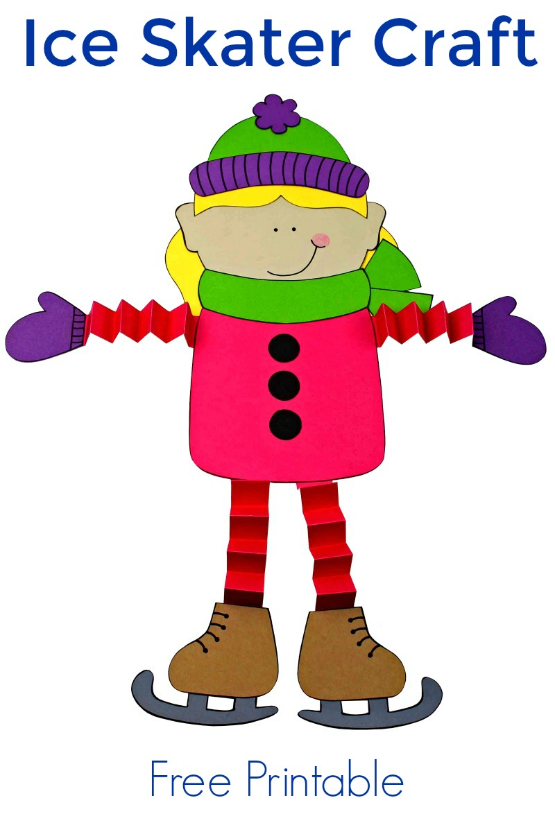 pin cute printable ice skate girl