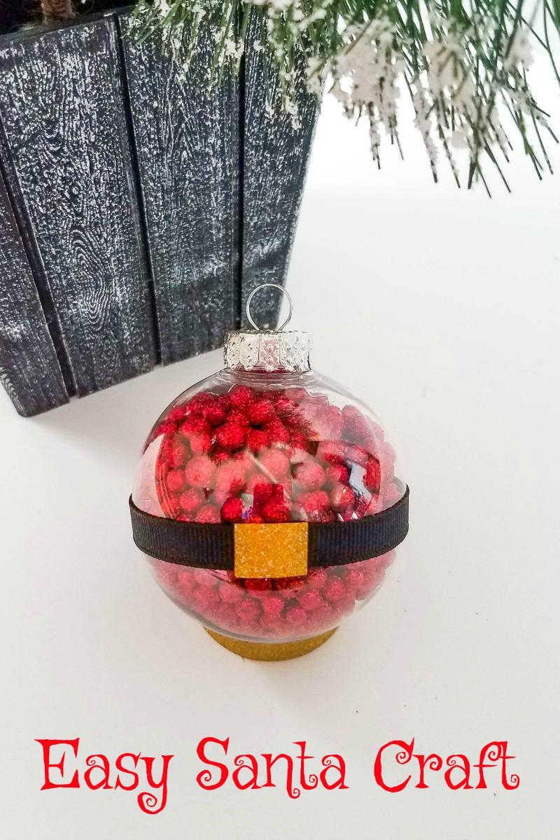 pin easy santa ball ornament craft