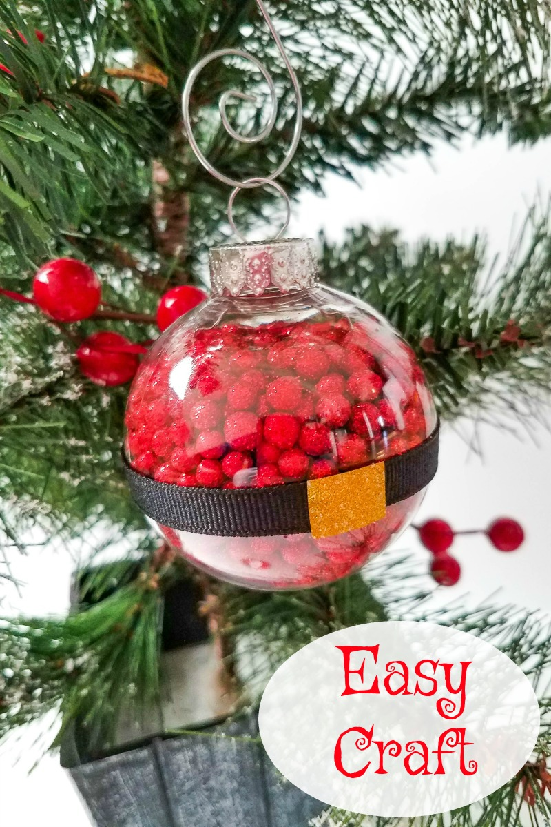 Cute and Easy Santa Ball Ornament Craft #Craft #SantaCraft #Santa #Ornament #santaornament #ornamentcraft #christmasornament