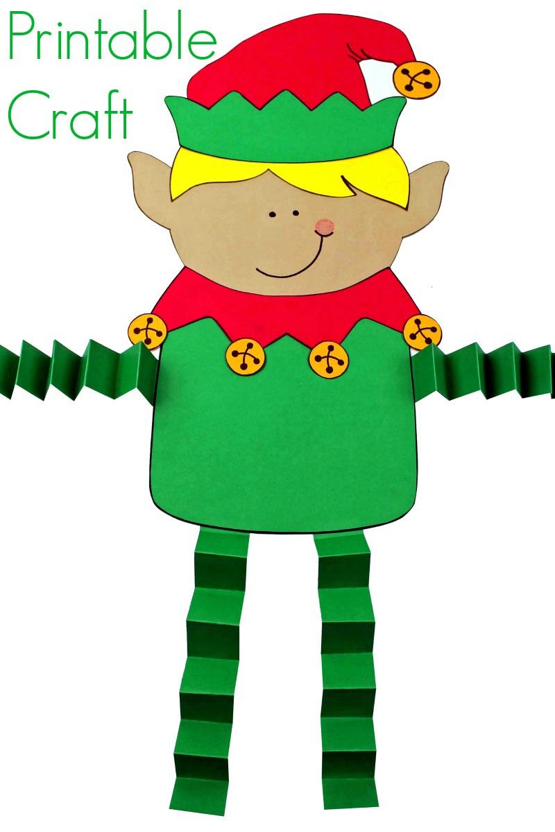 pin fun printable boy elf craft