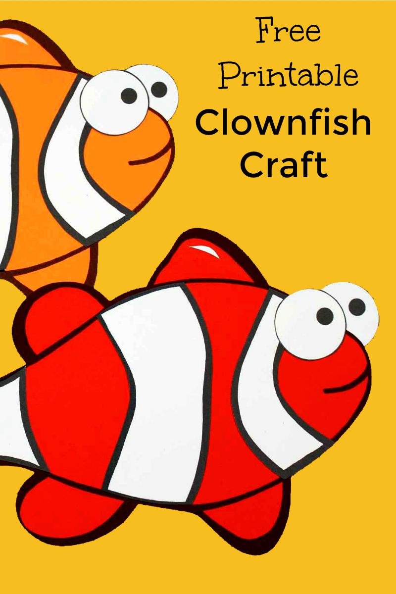 Free Printable Under The Sea Clownfish Craft #FreePrintable #Clownfish #ClownfishCraft #FishCraft