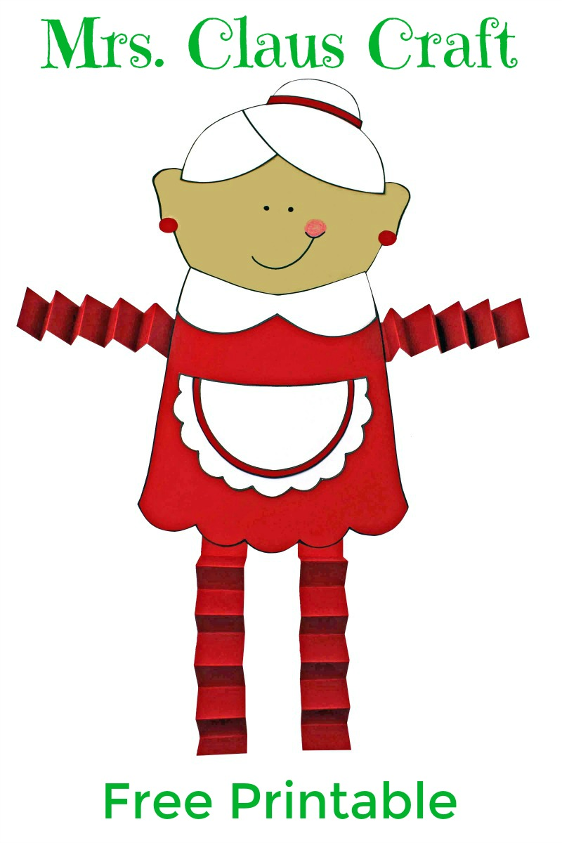 pin printable mrs claus craft on white background