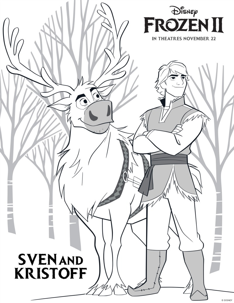 - Frozen Kristoff And Sven Coloring Page Mama Likes This