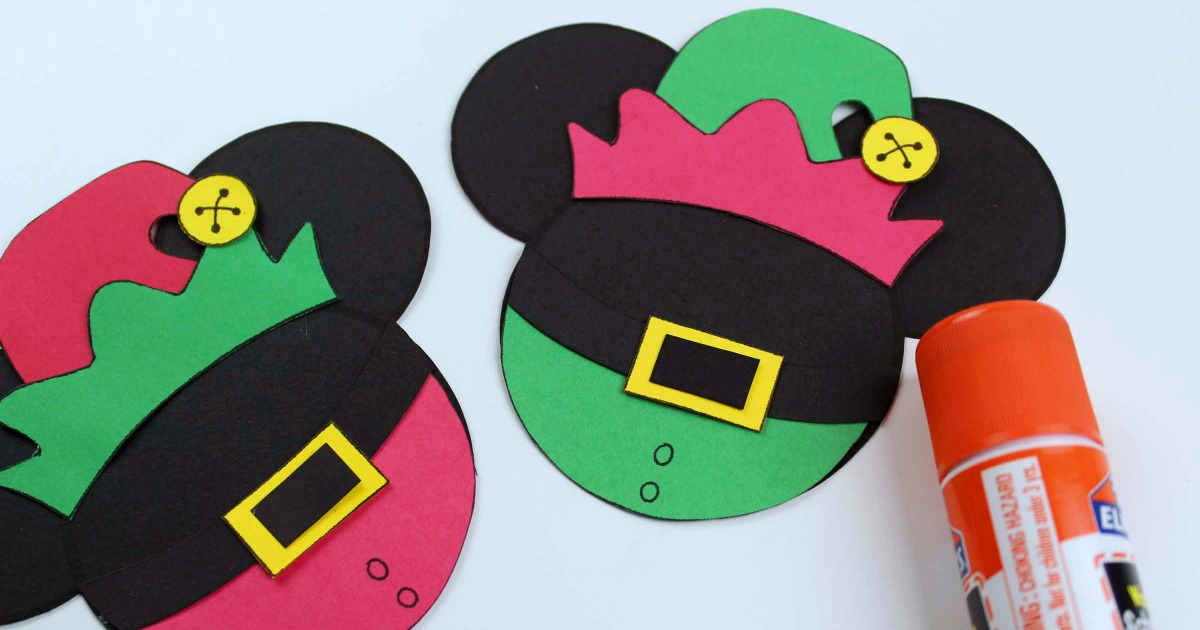 assembling the mickey elf crafts