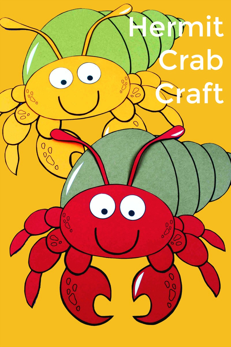 If your kids like sea creatures, they will love this hermit crab craft. The free printable art project is simple to make, and it