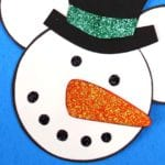 Disney Inspired Snowman Mickey Head Craft