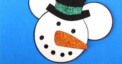 feature disney snowman mickey head craft