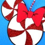 Disney Printable Peppermint Mickey Head Craft