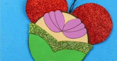 feature printable ariel ornament craft