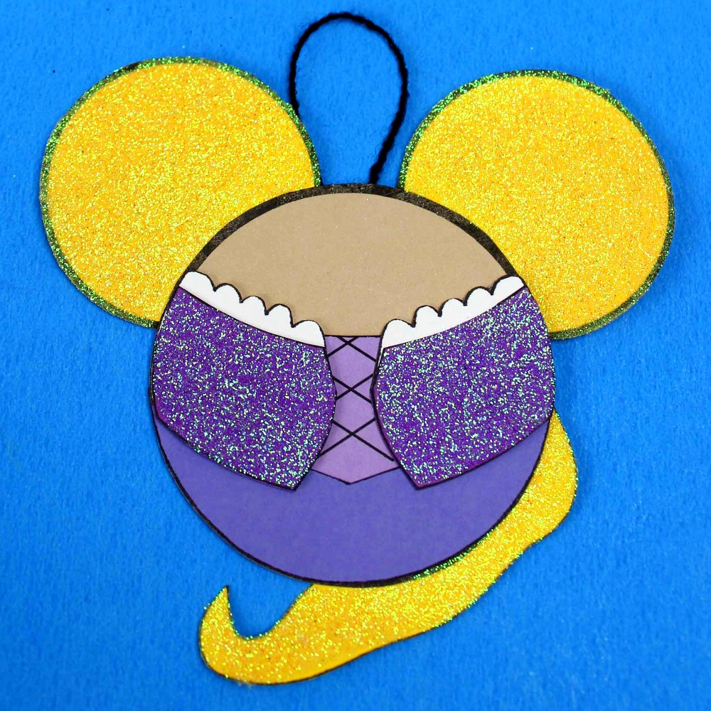 inst tangled rapunzel ornament craft