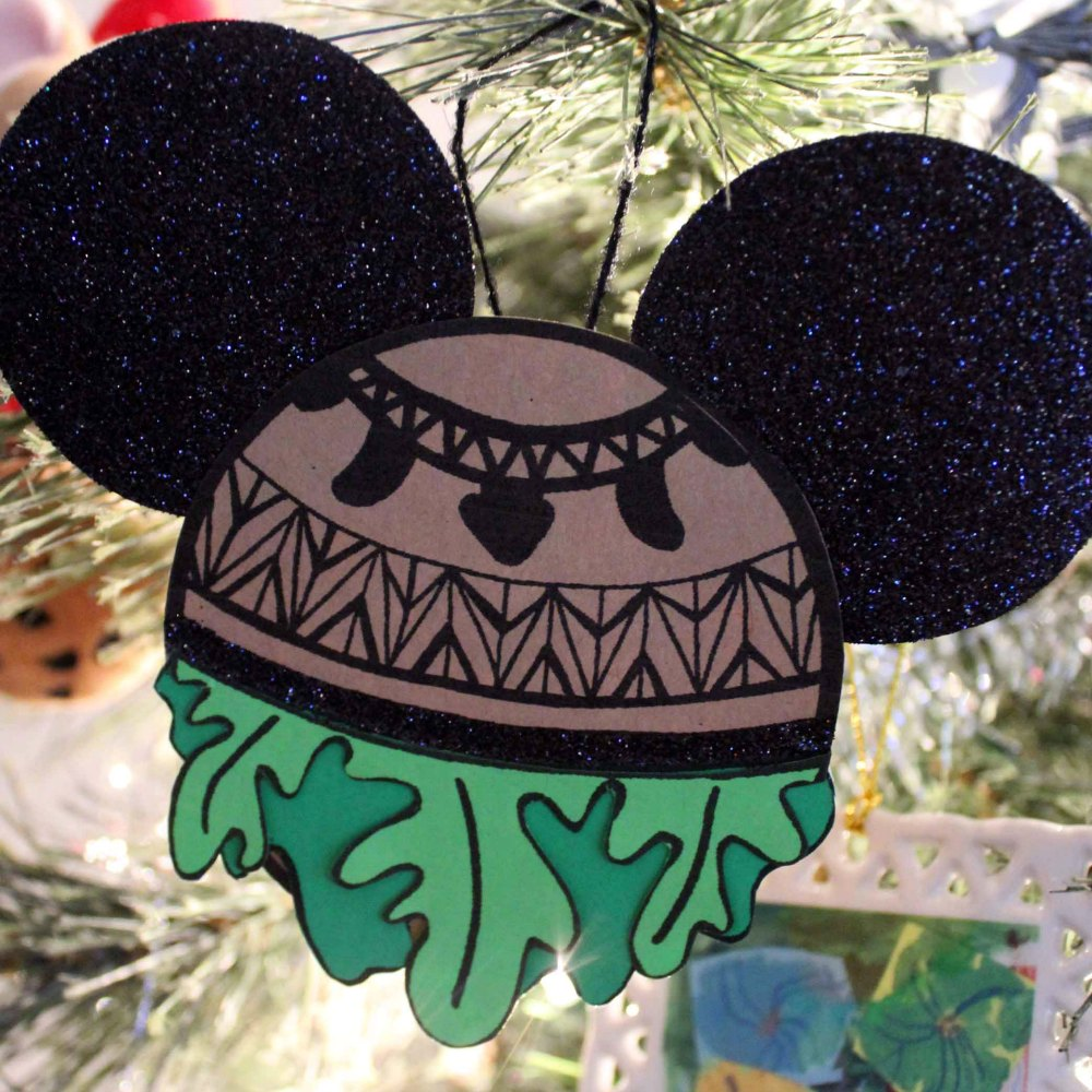 disney inspired maui ornament on christmas tree