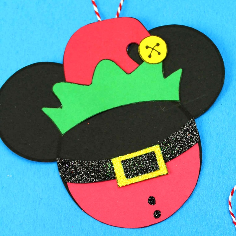 mickey head elf craft with red suit