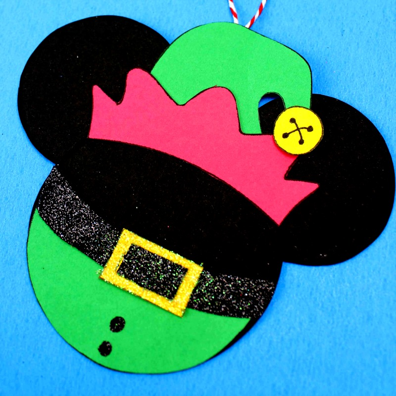 mickey head elf with green suit