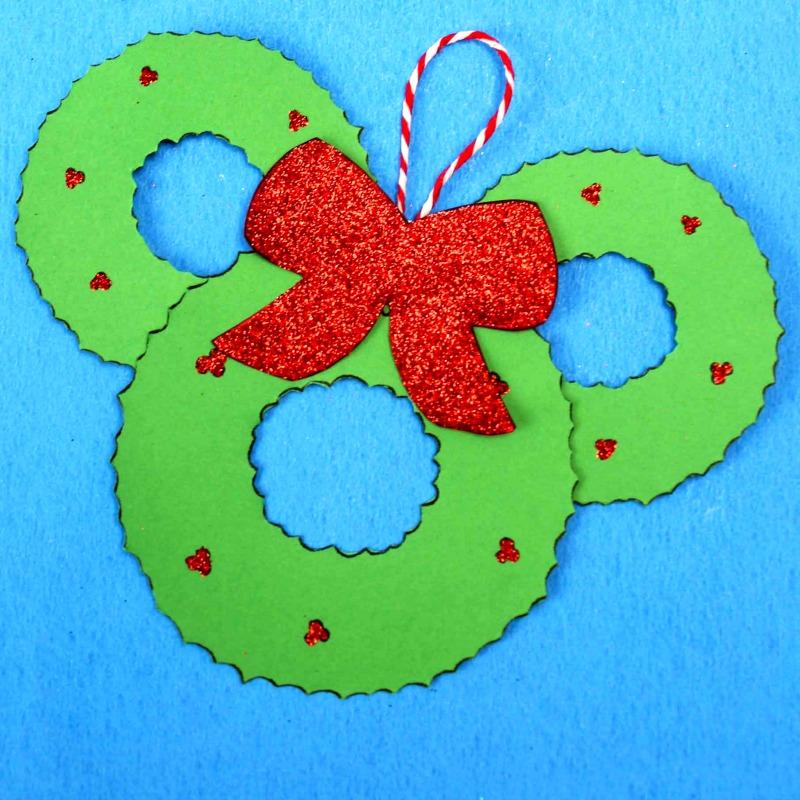 wreath mickey head craft