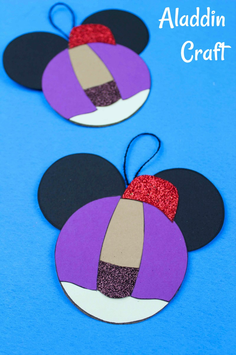 Aladdin Ornament Craft #FreePrintable #DisneyCraft #Aladdin #AladdinCraft #DisneyOrnament