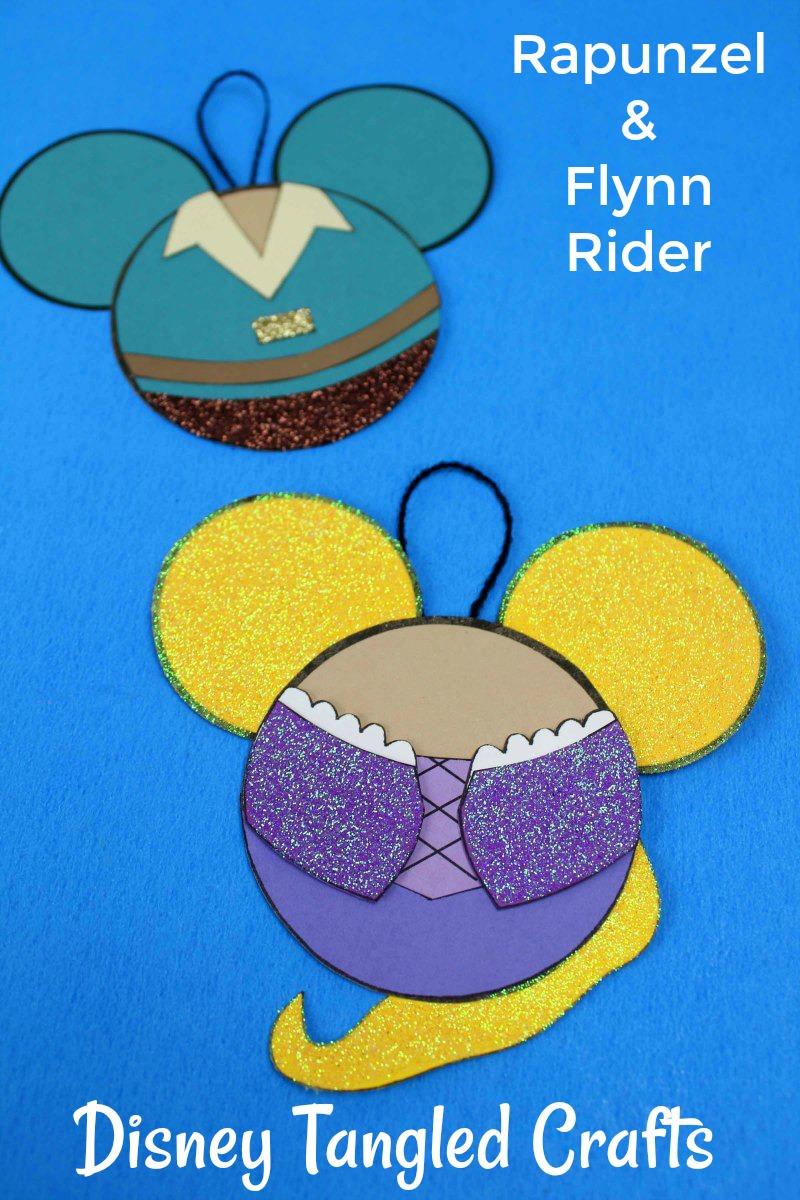 Disney Rapunzel and Flynn Rider Craft #Tangled #TangledCraft #Rapunzel #RapunzelCraft #FlynnRider #DisneyCraft