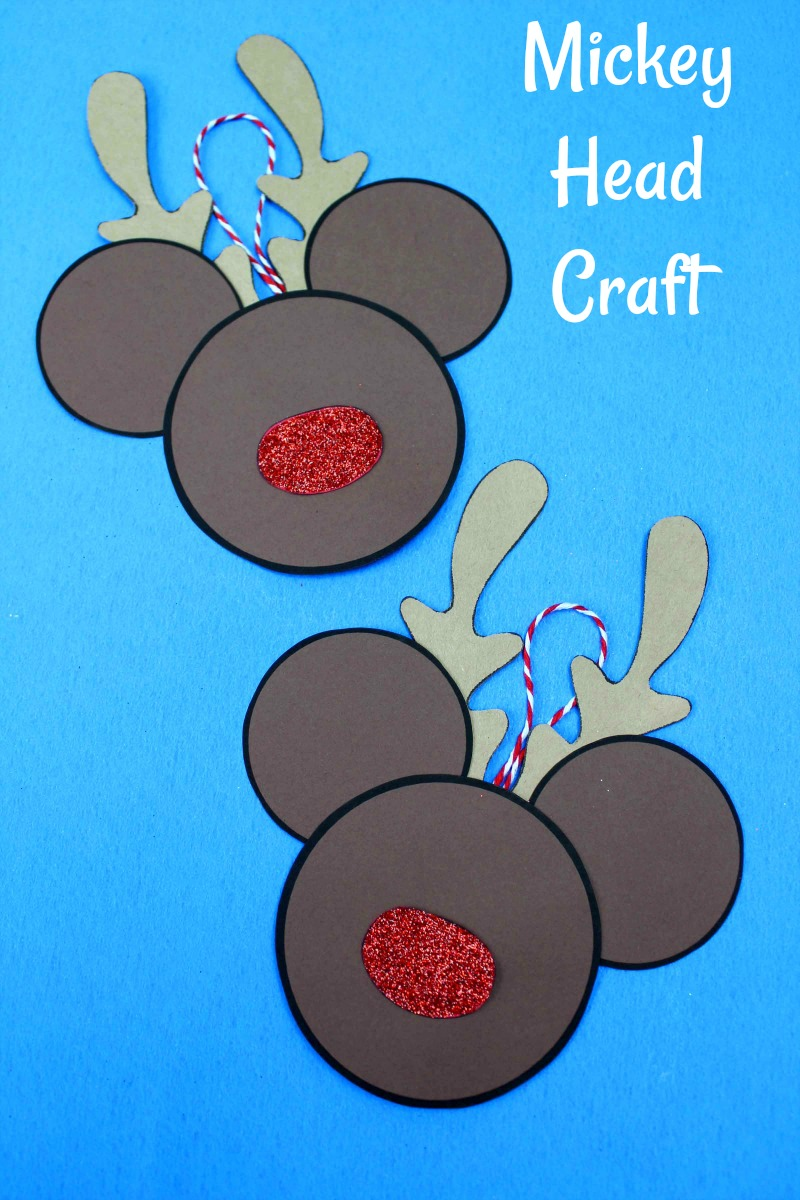 Disney Inspired Printable Rudolph the Red Nosed Reindeer Mickey Head Craft