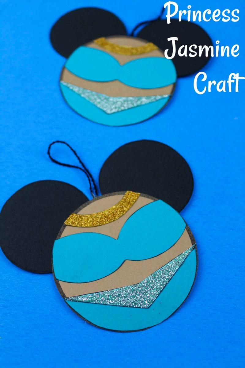 Disney Princess Jasmine Craft #Disney #Aladdin #DisneyOrnament #Jasmine #PrincessJasmine #FreePrintable