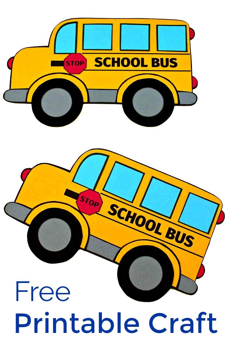 School Bus Craft #FreePrintable #SchoolBus #BackToSchool #BackToSchoolCrafts