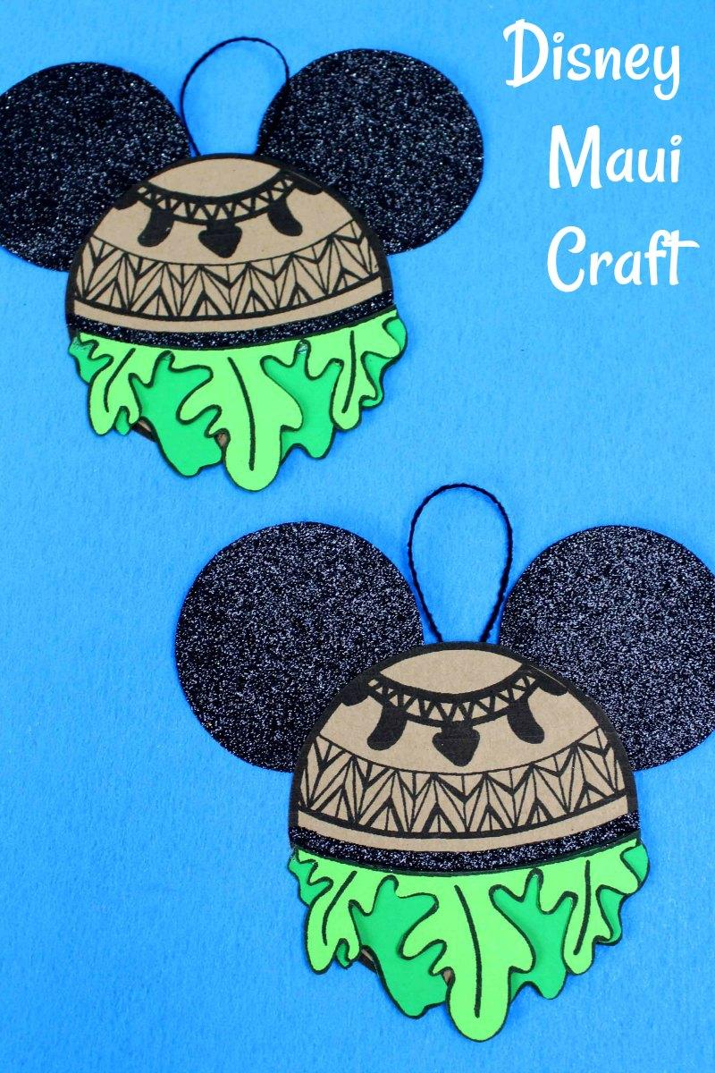 Maui Ornament Craft from Disney's Moana #DisneyOrnament #DisneyCraft #ChristmasOrnament #moana #maui #MauiCrafts #MoanaCrafts