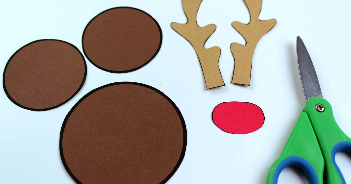 supplies for rudolph mickey craft