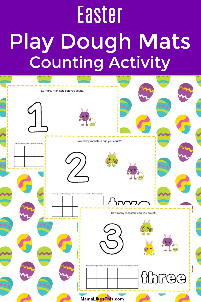 #FreePrintable Learning can be a whole lot of fun, when you print out my Easter play dough mats counting activity. This free holiday printable gives kids hands