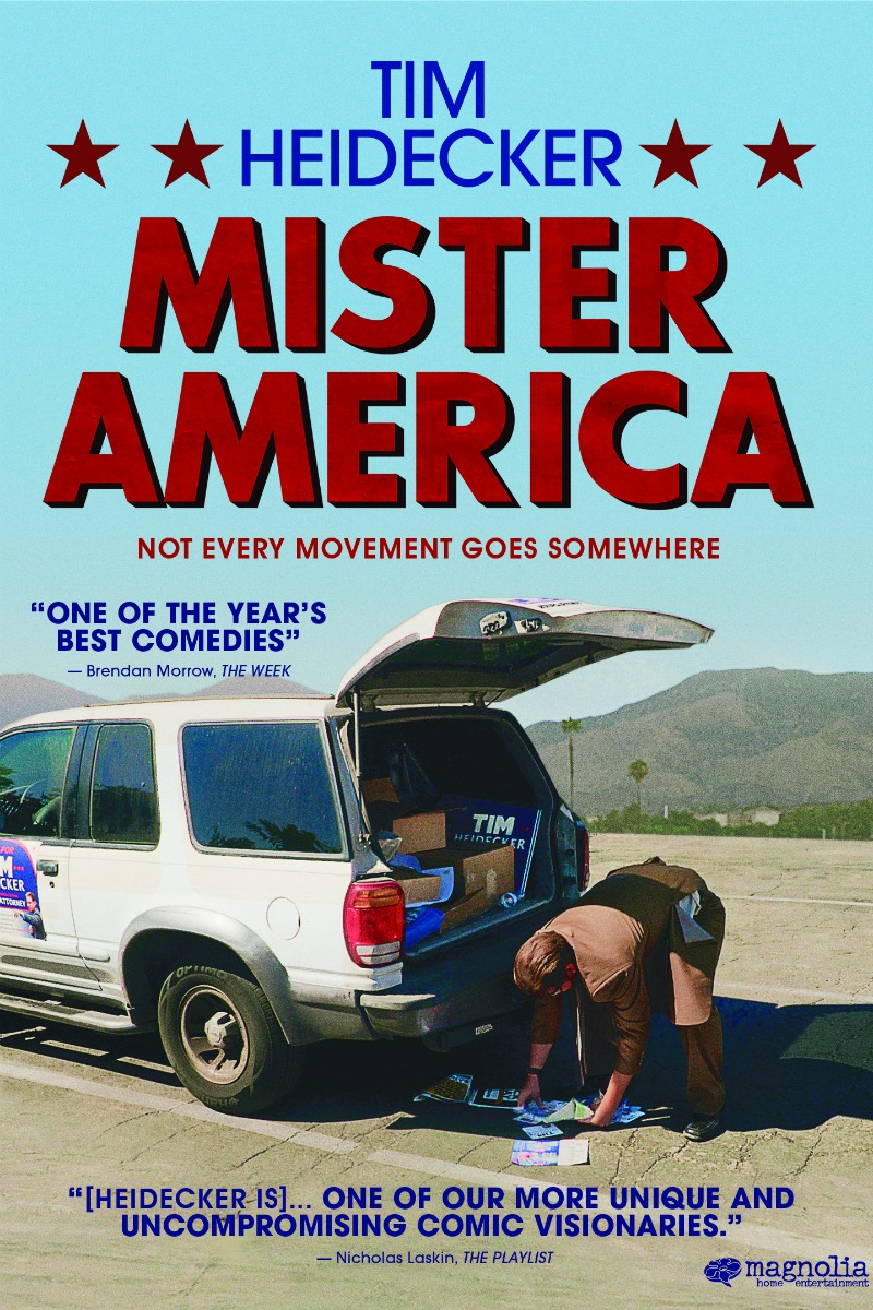 If you enjoy a good, quirky dark comedy, you'll want to check out the new Tim Heidecker Mister America movie from Magnolia Pictures.