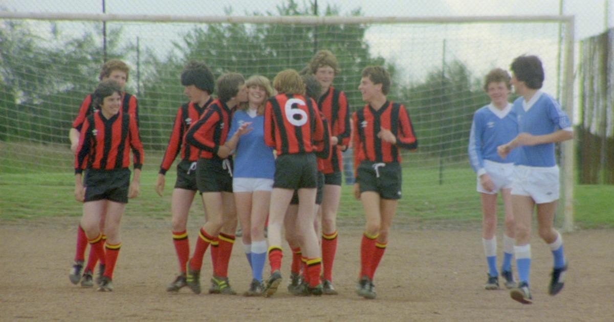 teen soccer game in scotland