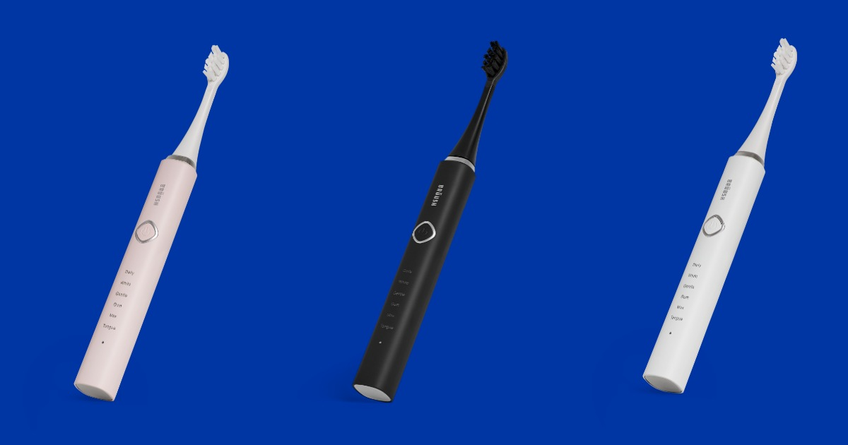 three bruush electric toothbrushes