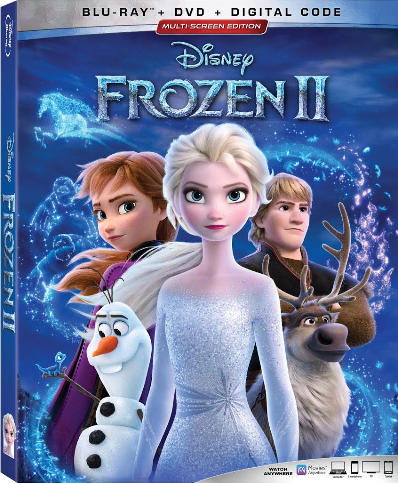Disney Frozen 2 - Enter the Disney Frozen 2 giveaway, so you can watch the blu-ray combo pack at home and on the go. The combo comes with a blu-ray, DVD and a digital code,