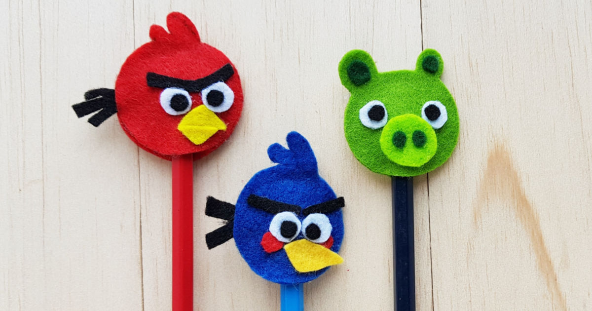 feature angry birds craft pencil toppers