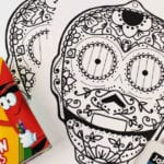 Free Printable C-3PO Sugar Skull Craft