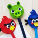 Felt Pencil Toppers Angry Birds Craft