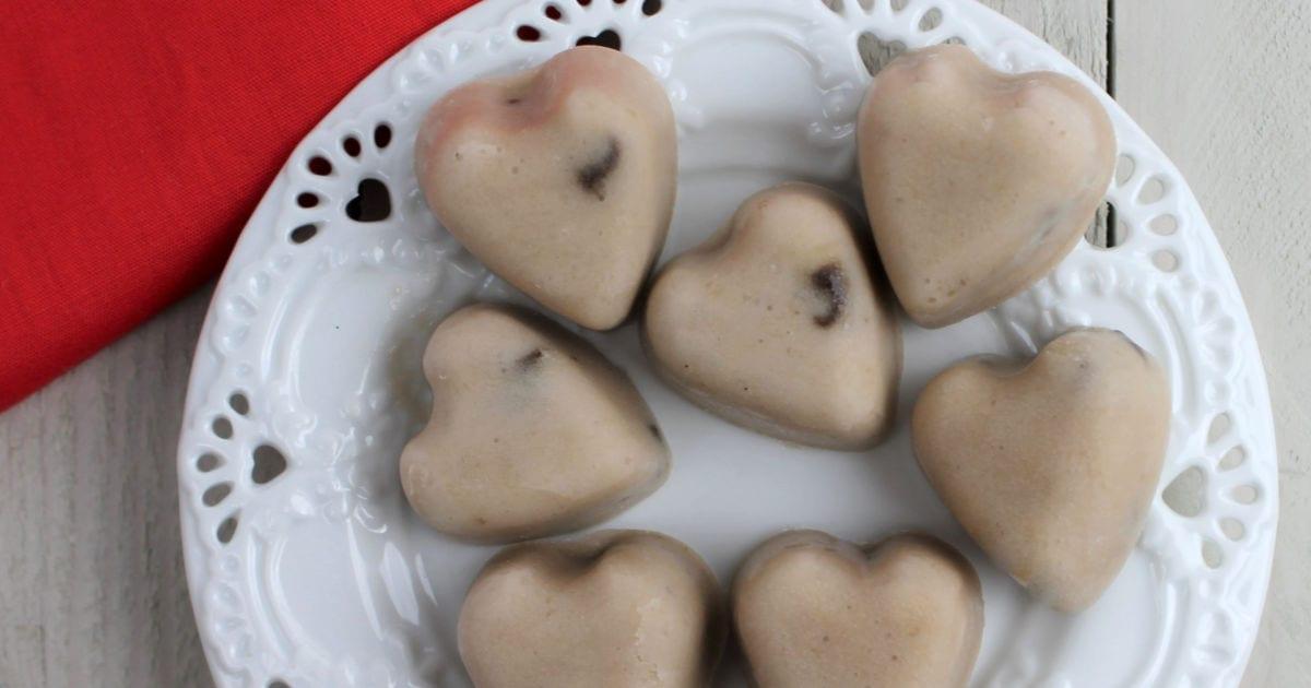heart shaped frozen banana bites