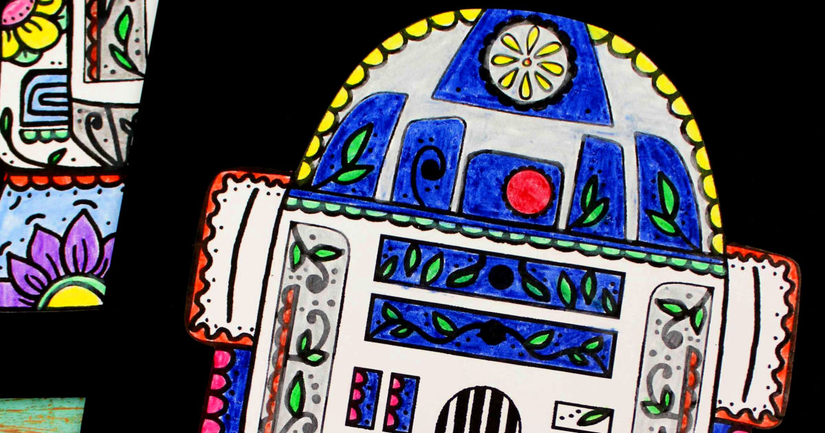feature r2-d2 sugar skull craft