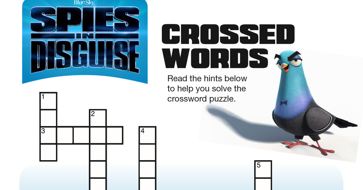 feature spies in disguise crossword
