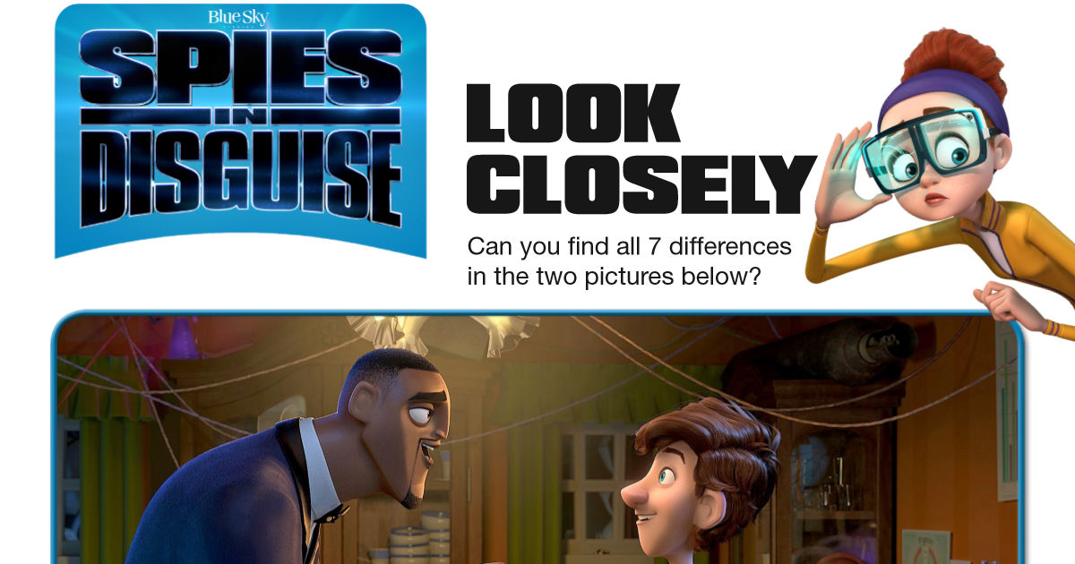 feature spies in disguise spot the difference