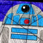 Star Wars Inspired R2-D2 Line Art Craft