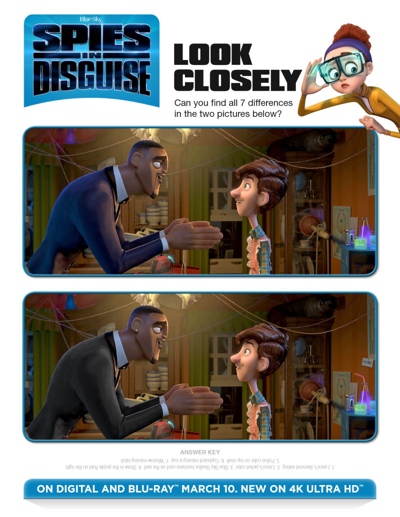 (ad) Spies in Disguise Activity Page - Spot the Difference!
