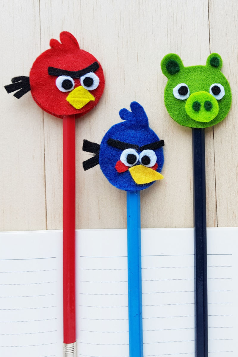 pin pencil toppers angry birds craft