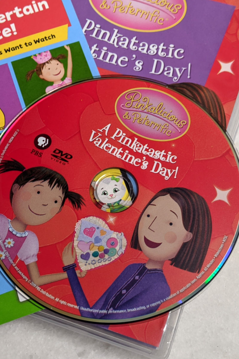 Pinkalicious & Peterrific: Pinktastic Valentine's Day DVD - It's time for Pinkalicious & Peterrific to have some Valentine's Day fun, since there is a brand new PBS Kids Pinktastic Valentine DVD.