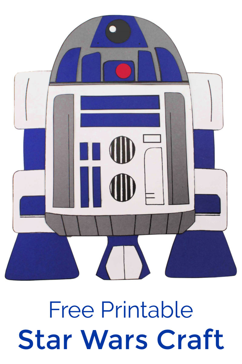 Star Wars Inspired Printable R2-D2 Craft #StarWars #StarWarsCraft #StarWarsCrafts #DisneyCraft #R2D2Craft #R2D2