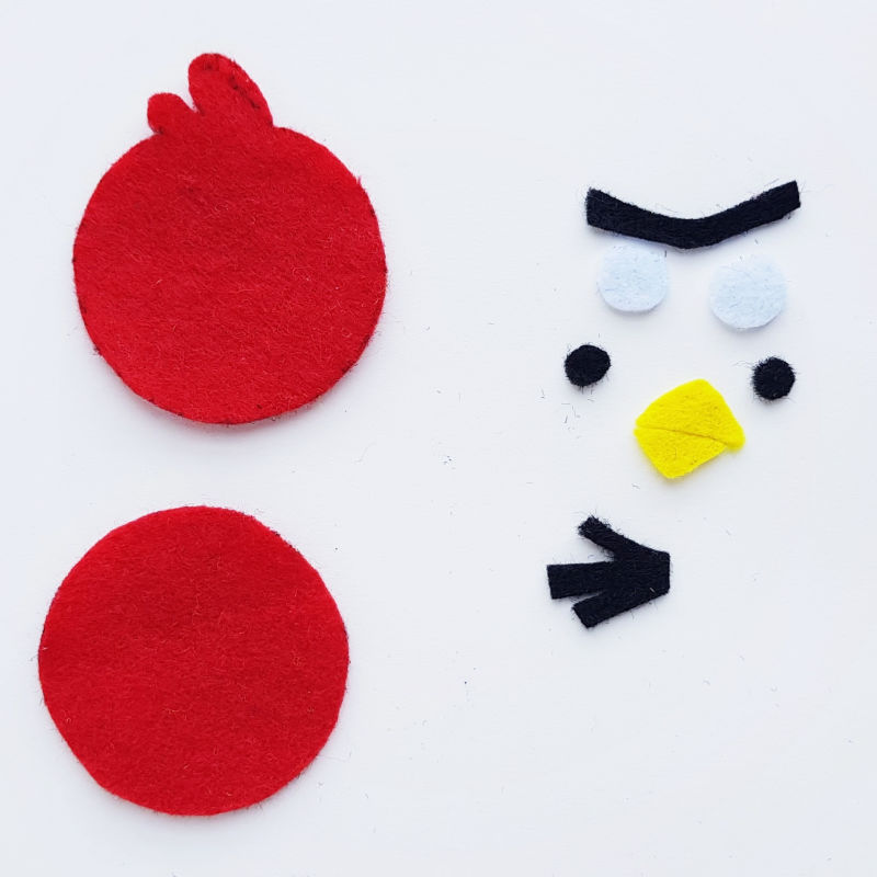 step 1 Angry Birds Pencil Topper Craft