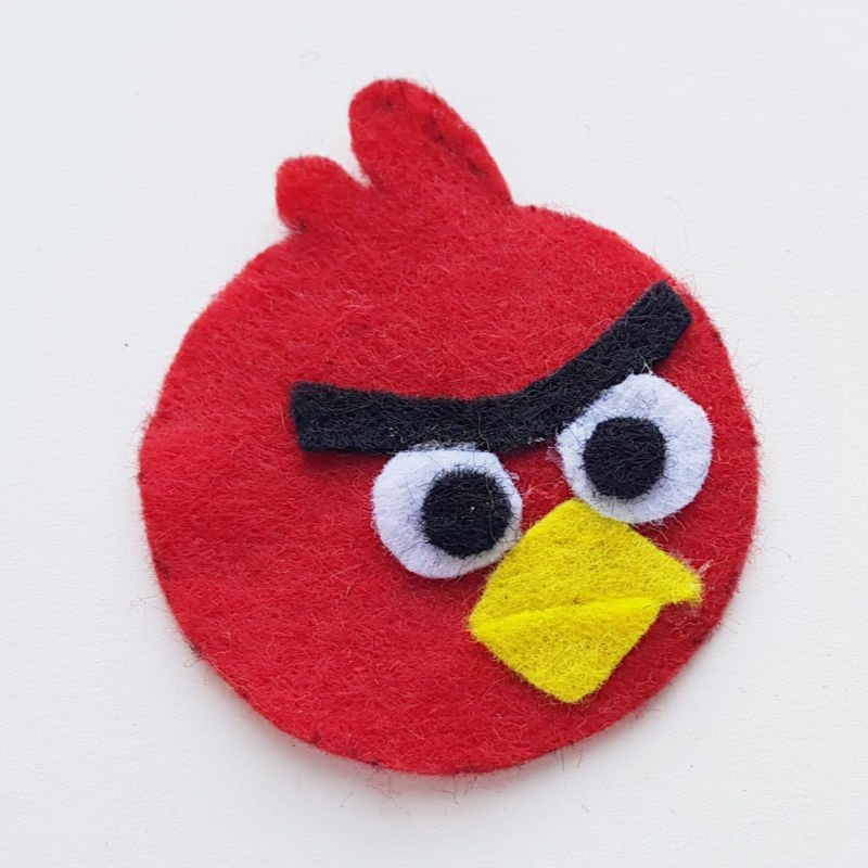 step 4 Angry Birds Pencil Topper Craft