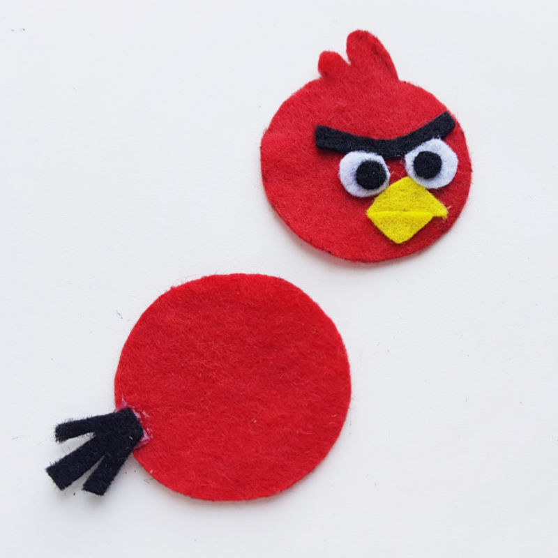 step 5 Angry Birds Pencil Topper Craft