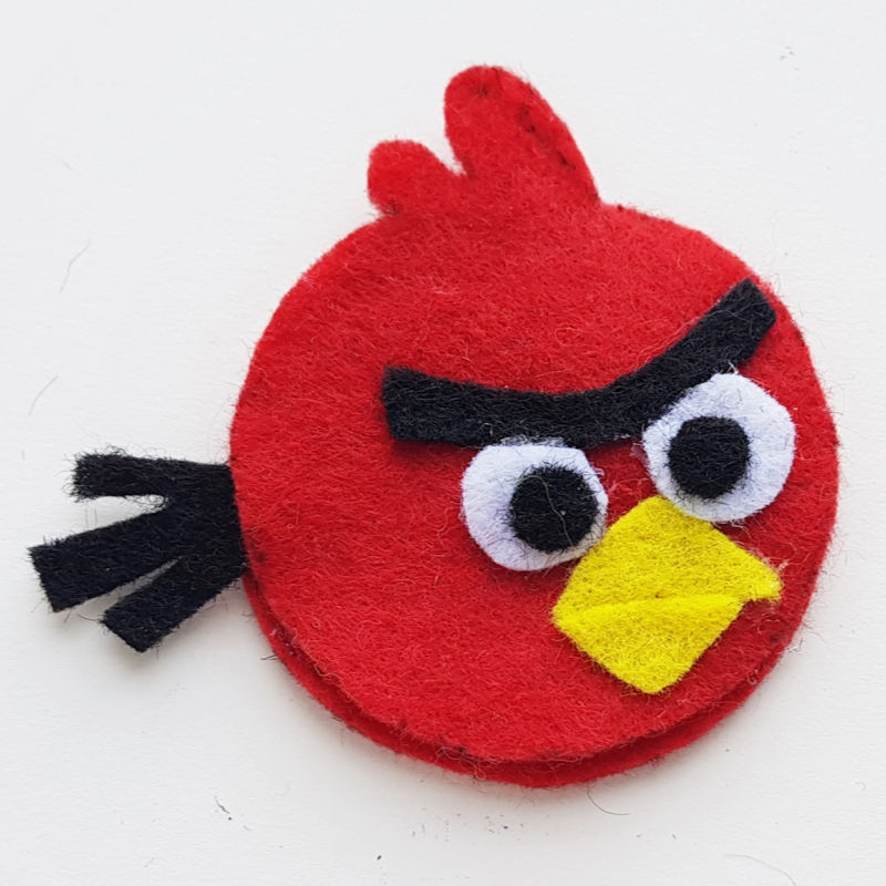step 6 Angry Birds Pencil Topper Craft